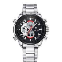 Brand WEIDE military watches calendar analog Japan quartz digital movement stainless steel watch waterproof Men sports watches