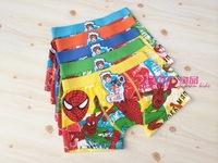 Freeshipping baby child cotton underwear kids cartoon spider man panties spiderman boy's boxer briefs Children's underwear 3-11