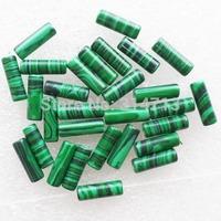 (Min.order 10$ mix)30pcs Beautiful Green Malachite Column Pendant Bead SAM0363