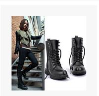 2014 women shoes Autumn boots single british style medium-leg martin shoes winter boots wedges platform snow boots rain boots