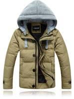 Quality Winter Fashion Man's Down Jacket Good Looking Hooded Down Coat Winter Outwear 90% White Duck Down Parkas JK-347