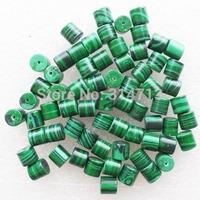 (Min.order 10$ mix)70pcs Beautiful Green Malachite Column Pendant Bead SAM0362