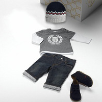 Retail Brand Boy's Hoodies Sweatshirts+Pants+Hat/Children's Jacket+Casual Trousers+Cap/Cute Baby Kids Clothes 3In Sets