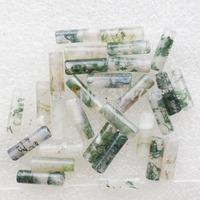 (Min.order 10$ mix)30pcs Beautiful Moss Agate Column Pendant Bead SAM0377