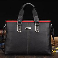 Free Shipping New 2014 Men Shoulder Bag Casual Cowhide Man Commercial Handbag Messenger Briefcase 2012-32