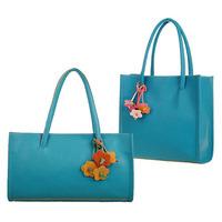 2014 New Fashion women floral leather handbag women messenger bags casual shoulder candy color flower bag color block bag