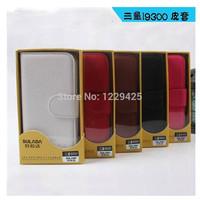 Samsung i9300 litchi grain leather protective sleeve S3 i9300 mobile phone case card holder shell dormancy