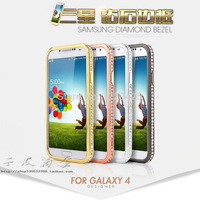Protective case cover for Samsung S4 S4 Mobile phone shell case diamond border for i9500