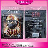 High quality resealable zipper herbal incense bag/plastic aluminum foil spice potpourri bag