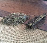 3pcs /lot  Bronze Metal Clip Hair Accessories 34x79mm