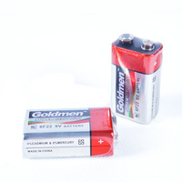 Goldmen 9V 6F22 Alkaline Zinc Manganese Dry Battery  - Color Random (4PCS)