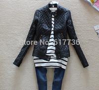 Hot Sell Brand !2014 Fashion Women Slim-Fitting Motorcycle Leather jacket Winter Coat Women Warm Outwear Coat