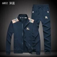 High Quality New Arrive 2014 Free Shipping Fashion Men Tracksuit Sweatshirt Pants Black Mens Slim Sport Suit M L XL XXL XXL