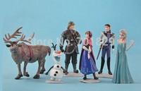 Frozen Anna Elsa Hans Kristoff Sven Olaf PVC Action Figures Toys Classic Toys Top Quality 6pcs/set 100set/lot