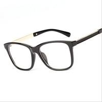 Glasses Frames Woman Man Eyeglasses Frame for Myopia 2014 Vew Plica Eye Glasses Plain Mirror Glass Vintage Black Spectacles 1113