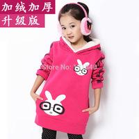 New 2014 Carton Children hoodies kids jackets & coat girls outerwear baby autumn winter Long sleeve sweatshirts free shipping