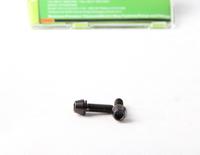 10pcs conical head titanium screws black color vaccum nitriding for bike