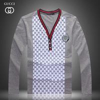 New Hot Sales Men Long Sleeve V Neck  Black  White Match Color T Shirt  Mr. Fashion Brand Cotton M L XL XXXL t Shirt 1d79-0195