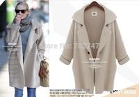 2014 new fall coat large European style cardigan sweater long version