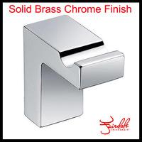 Hot Sale-Bathroom Accessories Wall Mounted  Brass Chrome Finish Bath Single Robe Hook, Clothes Hook, Wall Decorative Coat Hooks