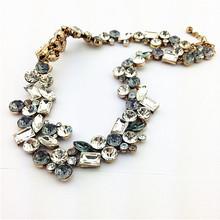 2015 Hot Sale Fashion Necklace Style Lucky Crystal Necklaces Pendants Choker Glegant Women Jewelry Fashion Statement