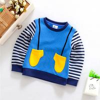 5 pcs/lot 2014 Autumn Children Clothing Coys And Girl's Fleece Wadded Fashion Long Sleeve O-nick T shirt YYJ525