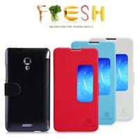 1PCS Original Nillkin Huawei Mate 2 Case Fresh Series Cover 4 Colors PU Leather Case, Free shipping
