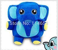Free shipping   Long nose elephant cartoon double bag bag bag children school bag