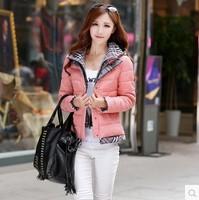 2014 New Fashion Women Winter short design down coat  jacket  Plaid Fasle Two-piece outerwear down parka  Free shipping 2812