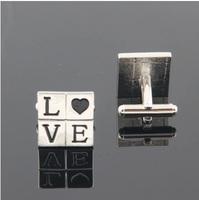 Free shipping! High quality French cufflinks, men's shirt cufflinks, cufflinks LOVE pictographic