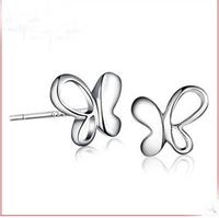 new 2014 arrival vintage elegant butterfly earrings 925 sterling silver jewelry women earring #sky-05