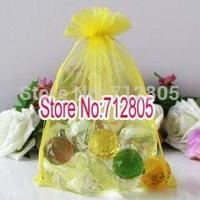 Wholesale 100pcs/lot 13x18cm Lemon yellow Large Organza Bag Organza Pouch Jewelry Gift Bags Free Shipping