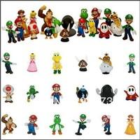 """NEW Super Mario Bros 1.5~2.5"""" Lot 18 pcs Figure Toy"""
