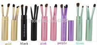 Wholesale New 50Pcs/10Sets Portable Fiber Eye Shadow Brush Women Makeup Brushes Dropshipping