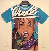 HOT!!!3D short sleeve o neck cotton t-shirt Animal/sexy women printed t shirt men summer casual tshirts size M-XXL free shipping