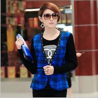 Plus Size Winter Jackets Coat Women 2014 Fashion Warm Short Coat 5XL Big Size Female Overcoat V-neck Elegant Office Lady Clothes