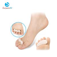 2 Pairs Silicone Gel Orthopedic Metatarsal Three Rings Hammer Overlapping Toe Separator Correction Straightener Feet Care
