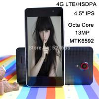 "4.5"" IPS Original SANTIN S8 4G LTE/HSDPA Octa Core MTK6592 support GPS 8GB ROM 2GB RAM S960 P780 13MP Android 4.4 SmartPhone"