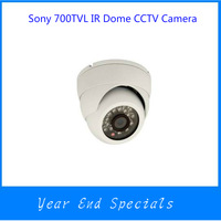 Promotion 700TVL IR Dome CCTV Security Camera 1/3 SONY 811+ Effio-E DSP 3.6mm Lens 24IR Leds Wite Case