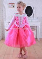 Free shipping Children Sleeping Beauty Cosplay Costume /baby girls Princess Aurora fancy dress performance Costume,best gift