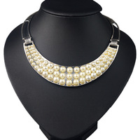 Luxurious Three Layers of Large and Small Pearls Best for Women with Evening Dress JS-NZ0203