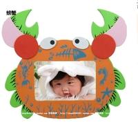early educational  EVA children toys diy handwork EVA cartoon 3D baby puzzle photo frame EVA Craft Kits Educational toys