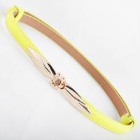 Free shipping 2014 new european fashion punk trench cummerbund gold leaves buckle thin adjustable strap belt waist female women