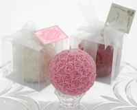 Elegant Rose Ball Wedding Candle LZ005/B Wedding Souvenir or Party Favor, Gifts