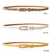 Free shipping 2014 new european trench pigskin buckle genuine leather thin waist belt fashion female decoration strap hip women