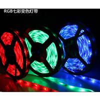 Newest 5M RGB Waterproof 3528 LED Strip Light 300 SMD Flexible Car Lamp, Free Shipping