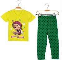 Hot Sale Girls Boys Cartoon Character Comic Print Pyjama Nightwear Loungewear Homedress