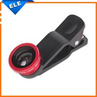 Universal clip lens 3 in 1 Wide Lens + Macro Lens + 180 Fisheye Lens For mobile phone Digital camera