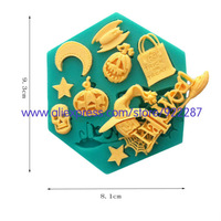 Halloween decoration candy silicone mold form for soap new arrival styling tools bakery cookie free shipping