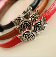 Free shipping 2014 new european hip accessories vintage fashion cummerbund elegant rose flower buckle women's strap belt female